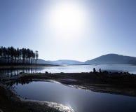 Riva del lago fotografia stock