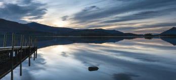 Riva del lago, acqua di Derwent Fotografia Stock Libera da Diritti