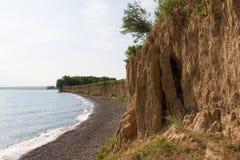 Riva del lago Alakol Fotografia Stock