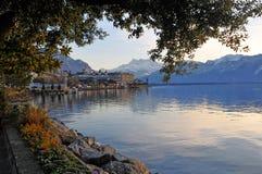 Riva del lago del lago geneva Immagine Stock Libera da Diritti