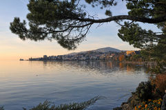 Riva del lago del lago geneva Fotografia Stock Libera da Diritti