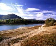 Riva del lago di tempo immagine stock