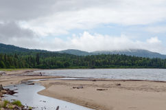 Riva del lago superiore Fotografia Stock Libera da Diritti