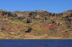 Riva del lago Titicaca. Fotografia Stock