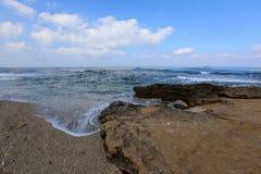 Riva del mar Mediterraneo Immagini Stock
