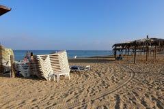 Riva del mar Mediterraneo Immagini Stock Libere da Diritti