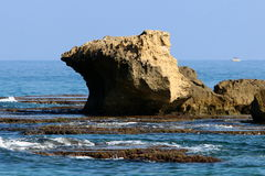 Riva del mar Mediterraneo Fotografia Stock