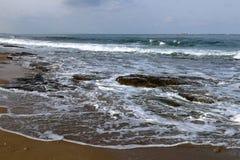 Riva del mar Mediterraneo Fotografie Stock
