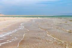 Riva del sale del mar Morto Fotografia Stock