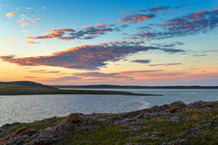 Riva del sud di Novaya Zemlya Immagini Stock