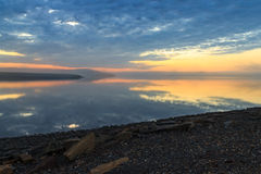 Riva del sud di Novaya Zemlya Fotografie Stock Libere da Diritti
