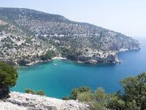 Riva dell'isola di Thassos, Grecia Fotografie Stock
