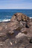 Riva dell'Oceano Atlantico in Tenerife ad ovest, Spagna fotografia stock