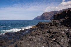 Riva dell'Oceano Atlantico in Tenerife ad ovest, Spagna fotografia stock libera da diritti