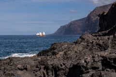 Riva dell'Oceano Atlantico in Tenerife ad ovest, Spagna immagini stock