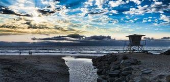 Riva dell'oceano del sud della spiaggia Fotografia Stock