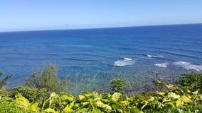 Riva dell'oceano di Kauai Fotografia Stock