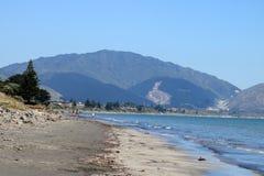 Riva della costa di Kapiti, isola del nord, Nuova Zelanda immagini stock libere da diritti