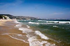 Riva della località di soggiorno di Mar Nero in Bulgaria Abena Fotografia Stock Libera da Diritti