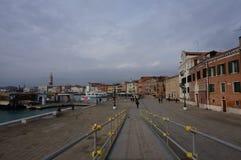 Riva Della Schiavone Venedig Arkivbild