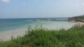 Riva della spiaggia al Mar Nero, Romania Fotografie Stock Libere da Diritti