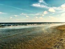 Riva di Galveston fotografia stock
