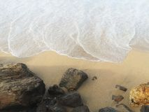 Riva di mar Bianco Fotografia Stock