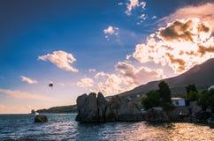 Riva di mare Fotografia Stock