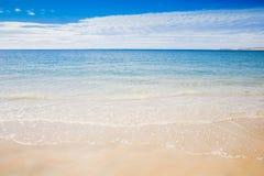 Riva di mare australiana della spiaggia di estate di Ningaloo bella immagine stock libera da diritti