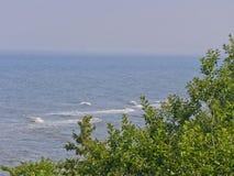 Riva di mare da sopra Fotografia Stock