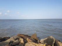Riva di mare di Kanyakumari Immagini Stock Libere da Diritti