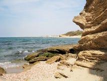 Riva di mare, roccia di pietra Immagini Stock