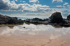 Riva ed oceano di Maui Fotografia Stock