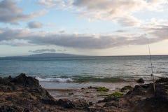 Riva ed oceano di Maui Immagini Stock Libere da Diritti