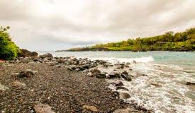 Riva ed oceano di Maui Fotografia Stock Libera da Diritti