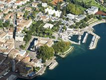 Riva. On garda lake italy stock photography
