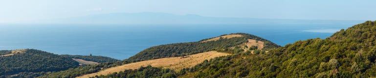 Riva Halkidiki, Grecia di Athos Peninsula Immagini Stock Libere da Diritti