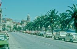 Riva i splittring, Kroatien Royaltyfria Bilder