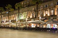 Riva promenade at night. Split. Croatia Stock Photo