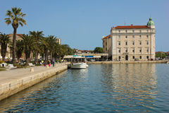 Riva promenade. Seafront. Split. Croatia Royalty Free Stock Photo