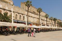 Riva-promenade spleet Kroatië royalty-vrije stock foto's