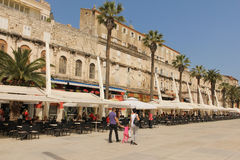 Riva promenade. Split. Croatia Royalty Free Stock Photos