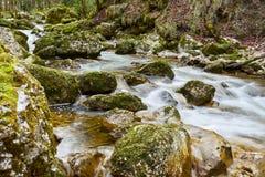 RivA rere Cascade Du HA©rissonn朱拉法国 库存照片