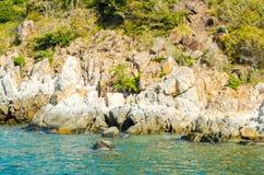 Riva rocciosa 1 Fotografia Stock Libera da Diritti