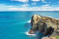 Riva rocciosa, linea costiera di Taiwan Fotografie Stock