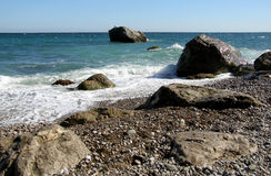 Riva rocciosa marina Fotografia Stock