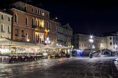 Riva Schiovani nachts Stockfoto