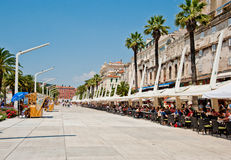 Riva in Split, Croatia Royalty Free Stock Photography