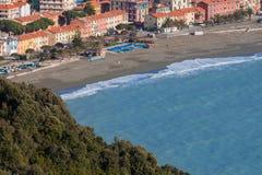 Riva trigoso city of ligurian riviera view from above Stock Photo