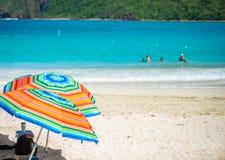Rivage Culebra Puerto Rico de bord de la mer de plage de flamenco photographie stock